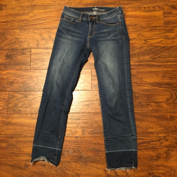 New York & Company Denim - New York & Co Stovepipe cropped Jeans;